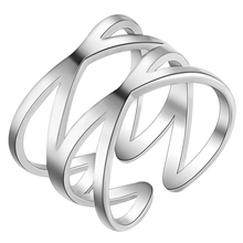 925 jewelry Silver Plated Ring Charming Rose Wedding Rings For Women Valentine's gift PJ267(China (Mainland))