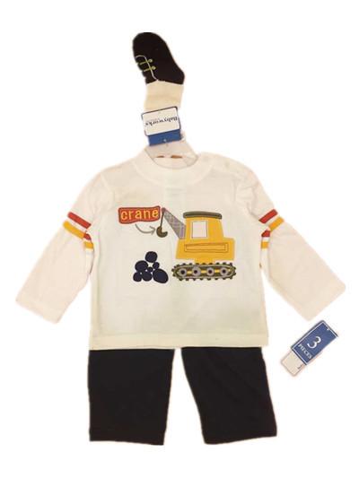 Baby boy clothing set kids cartoon clothes set for boys and girls cotton long sleeve + long pants + Socks child kids 3pcs set(China (Mainland))
