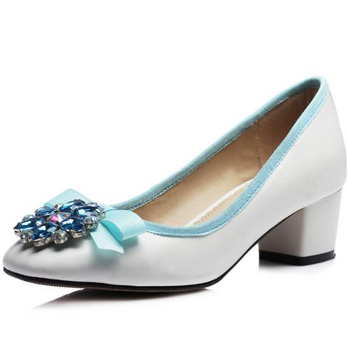 ENMAYER new Elegant Beaded Shoes Sexy High Heels Casual Prom Wedding Shoes Less Platform Pumps fashion shoes women