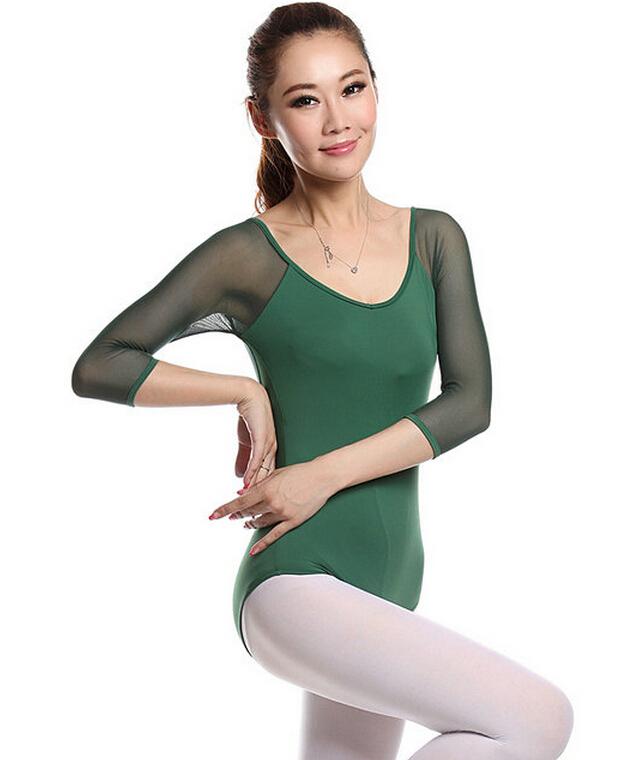 sleeve ballet leotards gymnastic clothing