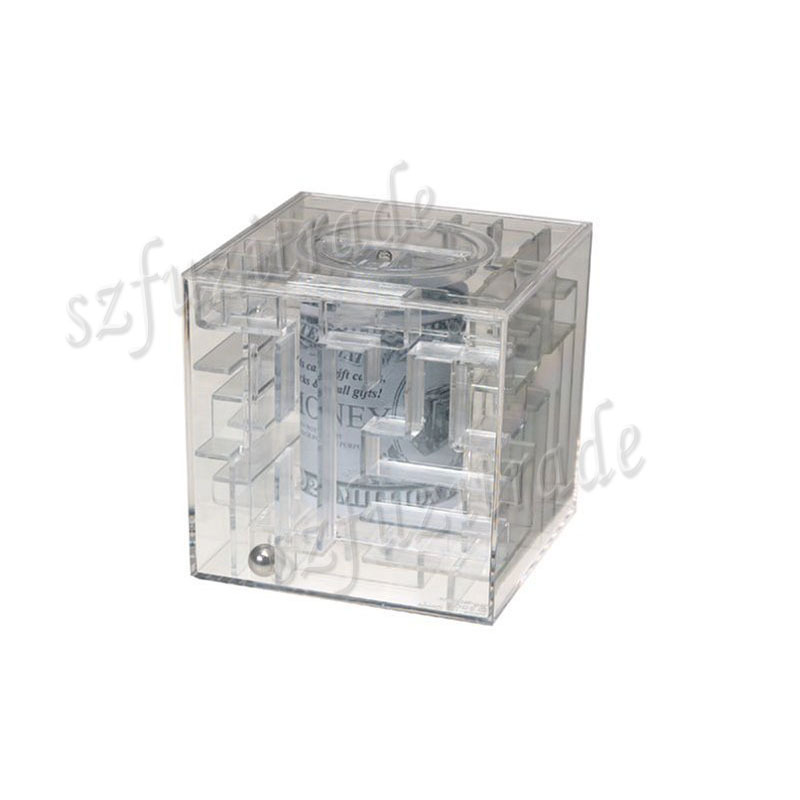 Wholesale New Money Maze Coin Box Puzzle Saving Bank Coin Bank Money Boxes Kids Vintage Gift Prize Free Shipping AIA00309#2(China (Mainland))
