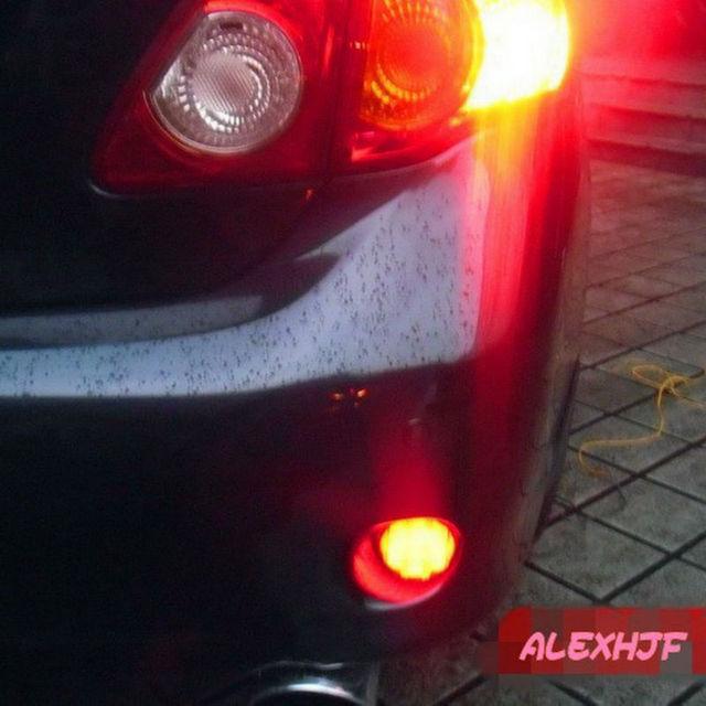LED Brake Lights + Night Running Lights case for Nissan Qashqai X-TRAIL and TOYOTA 2007~10 Corolla, 6.8cm Car LED Rear Fog Light