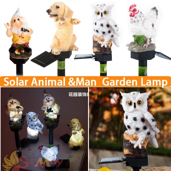 New Animal Light 4 model solar lights for garden led solar light outdoor solar panel led garden light led garden free shipping(China (Mainland))