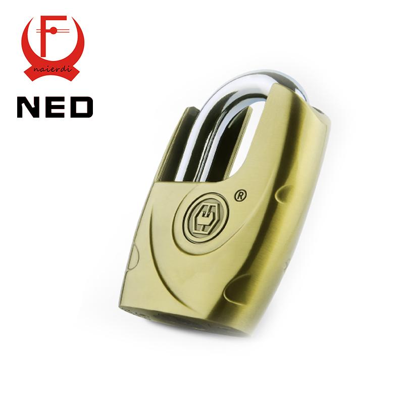 NED C8-60H Super B Grade Self-elastic Padlocks Anti-Theft Safe Lock Rustproof Antique Bronze Top Security Padlock With 4 Keys<br><br>Aliexpress