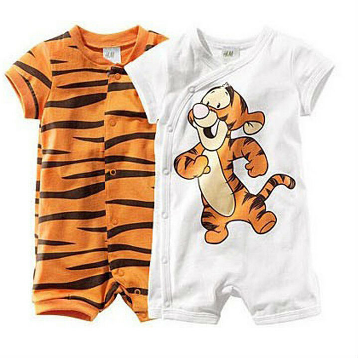New 2014 newborn Baby romper summer clothing baby boy clothes cartoon tiger style clothing baby overall bebe baby clothes BC074(China (Mainland))