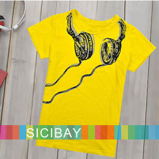 2015 New Children T shirts Boys Short Sleeve Tops Kids Summer fashion tees Baby Fake Headphone Design Tshirt, C0070 - SICIBAY Kids' Clothing:Selling for Donating store