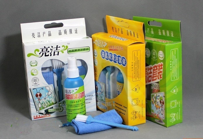 1 Set Computer cleaning Suits Latop LCD screen cleanser /cleaning cloth /cleaner brush(China (Mainland))