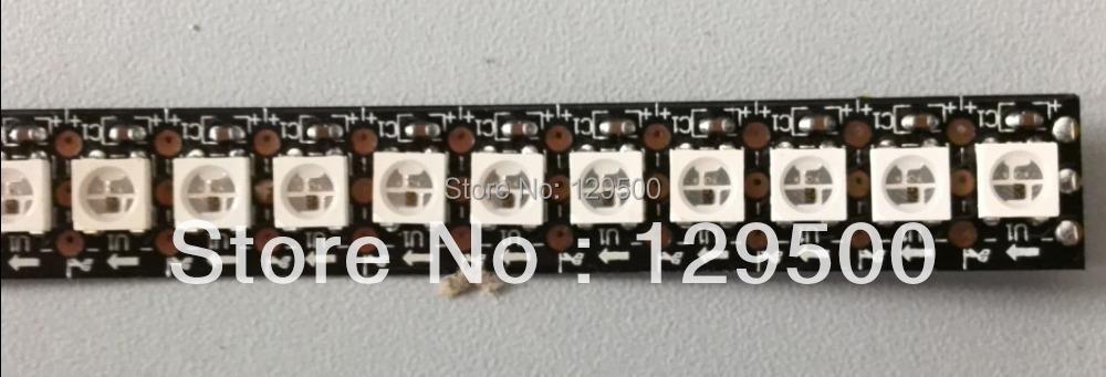 Fast Shipping Wholesale 1M 5050 RGB 144 LEDs WS2812B Chip Black PCB WS2811 Digital RGB LED Strip Light 144 Pixel DC5V(China (Mainland))