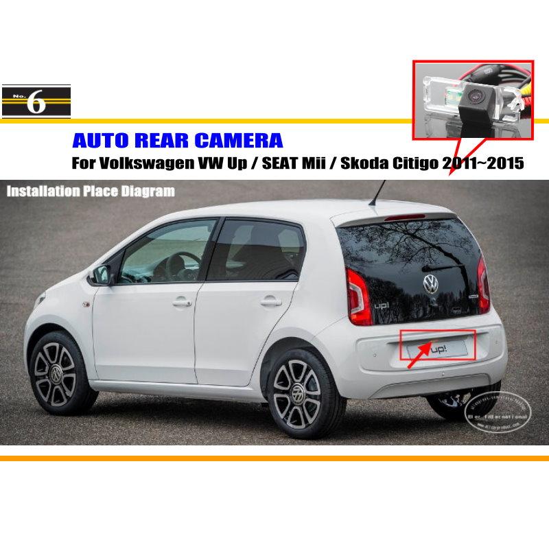 Car Camera For Volkswagen VW Up / SEAT Mii / Skoda Citigo / Rear View Camera / HD CCD RCA NTST PAL / License Plate Light OEM(China (Mainland))