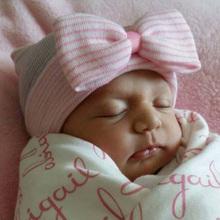 Newborn Hats Baby Girl Boy Cotton Beanie Big Bow Newborn Soft Crochet Knit Infant Caps Hat Baby Toddler Hat Accessories(China (Mainland))