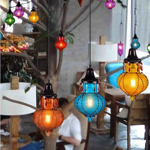 Amercian Crystal Glass Vintage Pendant Light Fixtures For Bedroom Home Decorate Hanging Lamp Mediterranean Sea Style DropLight<br><br>Aliexpress