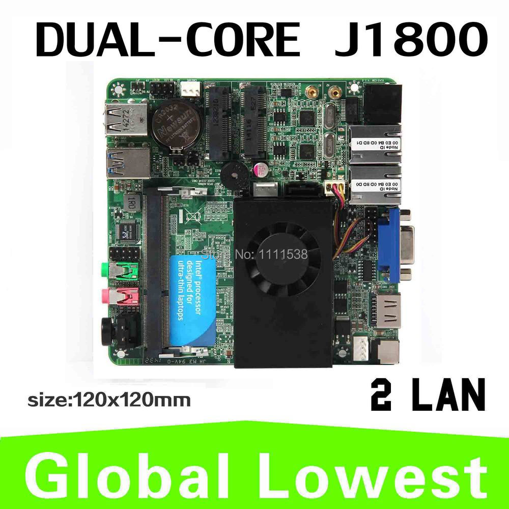 tiny motherboard thin itx case J1800 two lan ports mini pc motherboard support wireless keyboard and mouse(China (Mainland))