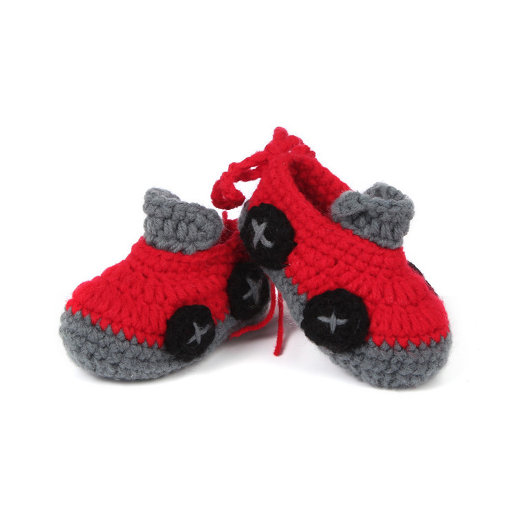 High Quality Newborn Soft Baby Toddler Infant Shoes with Car First Walkers Handmade Crochet Baby Shoes Infant Footwear(China (Mainland))
