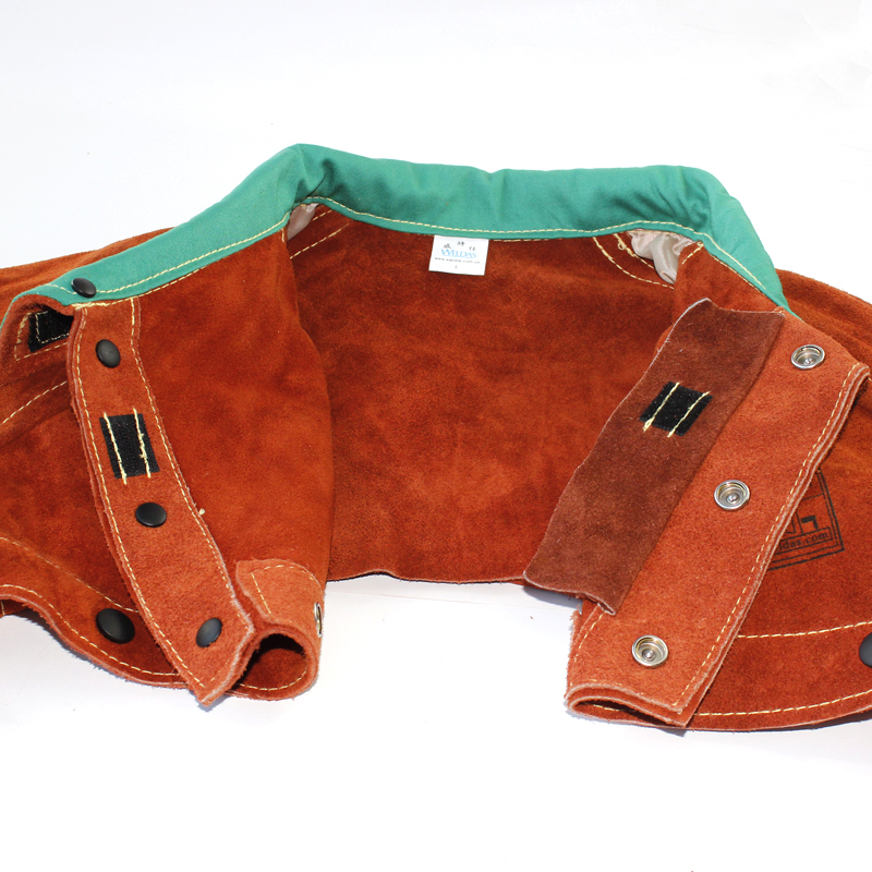 leather welder apron breathable economic type cow split leather welding jackets(China (Mainland))
