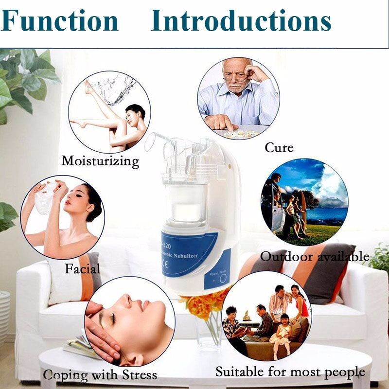 2016 Portable Home Handheld Ultrasonic Nebulizer Nebuliser Respirator Humidifier Vaporizer Health Care With EU/US Plug cheap