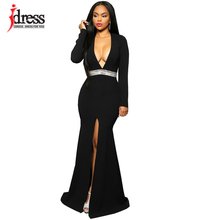 Buy IDress 2016 New Sexy Elegant Party Gown Maxi Dress Long Sleeve Maxi Dress Summer Style Maxi Sequin Dress Long Robe Longue Femme for $19.88 in AliExpress store