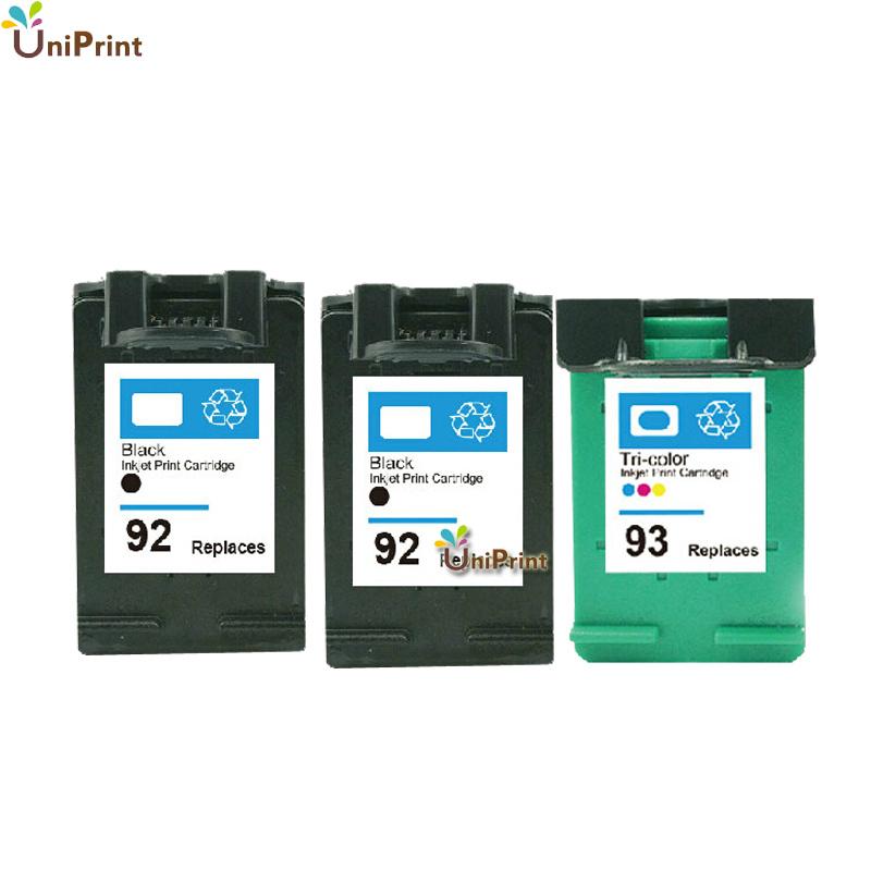 3 COMPATIBLE ink cartridges HP 92 93 INK CARTRIDGE 5440 C3180 C3175 PSC 1507 Photosmart 7830 C3100 C3140 PRINTER - Shenzhen UniPrint Technology store
