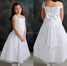 Vestido Daminha Pageant Dresses for Little Girls A Line Bow Plus Size Flower Girl Dresses for Weddings Organza Comunion Dress(China (Mainland))