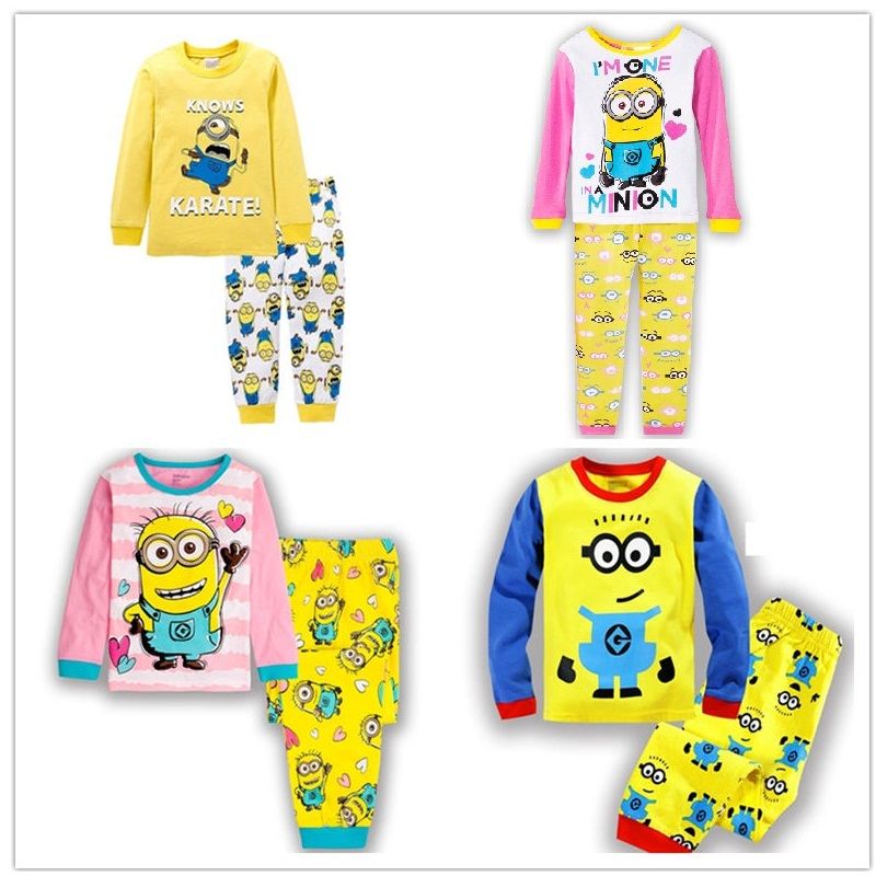 100% cotton Long sleeve girl's pajamas boys bedgown kid's sleepcoat children's pyjamas girls nightgown Cartoon 2 ktty modeling(China (Mainland))