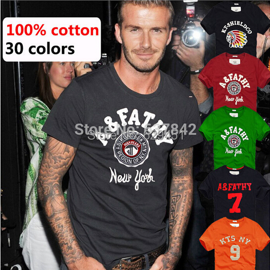 High Quality Cotton T-Shirts Men Short Sleeve Summer Tops For Man Famous Brand Design Causal T shirts Male Tees F001