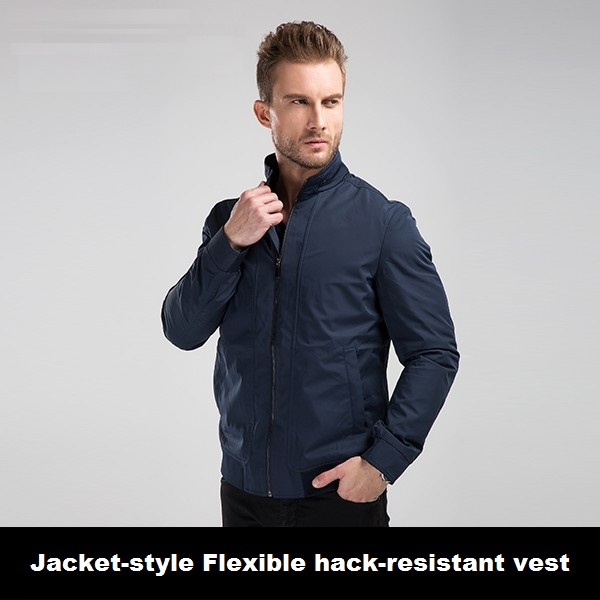 New Design Fashion Men Jacket Style Hack Resistant Vest Self Defense Personal Protection Cut Resistant Security Guard Equipment(China (Mainland))