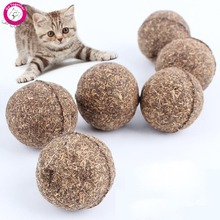 2Pcs/lot Pet Cat Toys Natural Catnip Healthy Funny Treats Ball For Cats Kitten