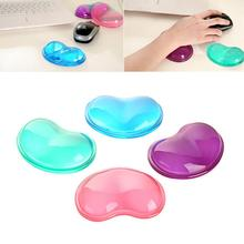 New 2016 Heart Silicon Mouse Pad Clear Wristband Pad For Desktop Computer Wonderful Gift 24(China (Mainland))