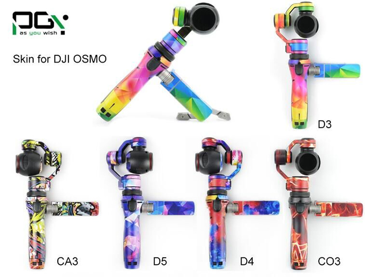 PGY PVC Skin Decal Sticker DJI OSMO Handheld 3-Axis Gimbal X3 4K HD Camera Shell Version Quadcopter Accessories PGY-OSS-CA3