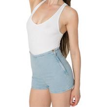 Shorts Jeans de Cintura alta para As Mulheres Doce Cor Curto Jeans Feminino 2016 Senhoras Magro Ocasional do Verão Calças Jeans Femininas C1078