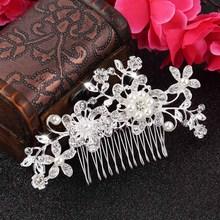 Wedding Bridal Pearl Hair Pins Flower Crystal Hair Clips Bridesmaid Jewelry wedding bridal accessories hair jewelry(China (Mainland))