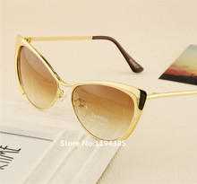 Fashion Metal Super Cute Sun glasses Cat eyes Women Sunglasses Designer High Quality Vintage Retro Glasses