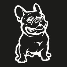 Strong Adhesive Stickers French Bulldog Dog Car Sticker Vinyl Cars Decal New Design(China (Mainland))
