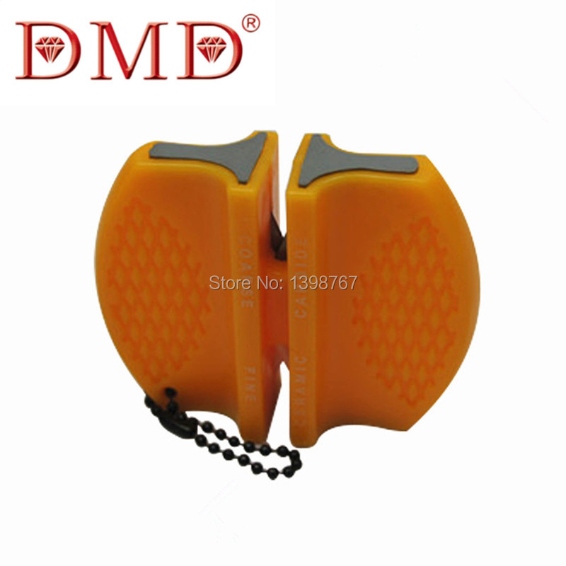 1pc Newest DMD carbide ceramic knife sharpener for kitchen outdoor knives coarse and fine sharpening free shipping(China (Mainland))