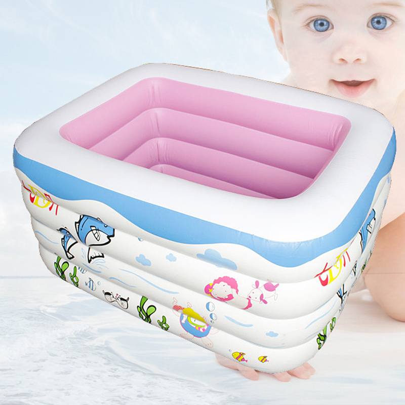 Intex Pool Promotion 2015 New Arrival Baby Swimming Pool Piscinas Inflables 4 Circle Inflatable Thickening Bathtub Infant Basin(China (Mainland))