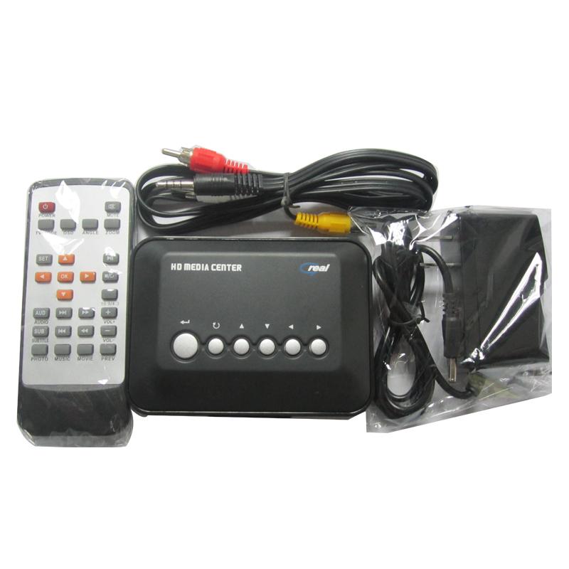 TV HD Media Player 720P USB SD/MMC Multi Video MKV RM RMVB AVI MPEG4 Center Remote Control - wanshishun int'L Electronic Ltd. store