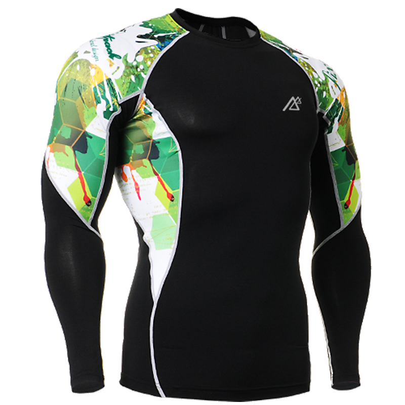 Life On Track Mens Gym Fitness Tight T shirt Compression Base Layer Breathable Running Training Shirts
