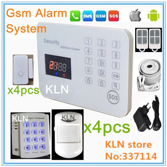 433Mhz smart home gsm alarm system 8 type zones ios android call sms control remotly support 150pcs remotes and 150 sensors.(China (Mainland))