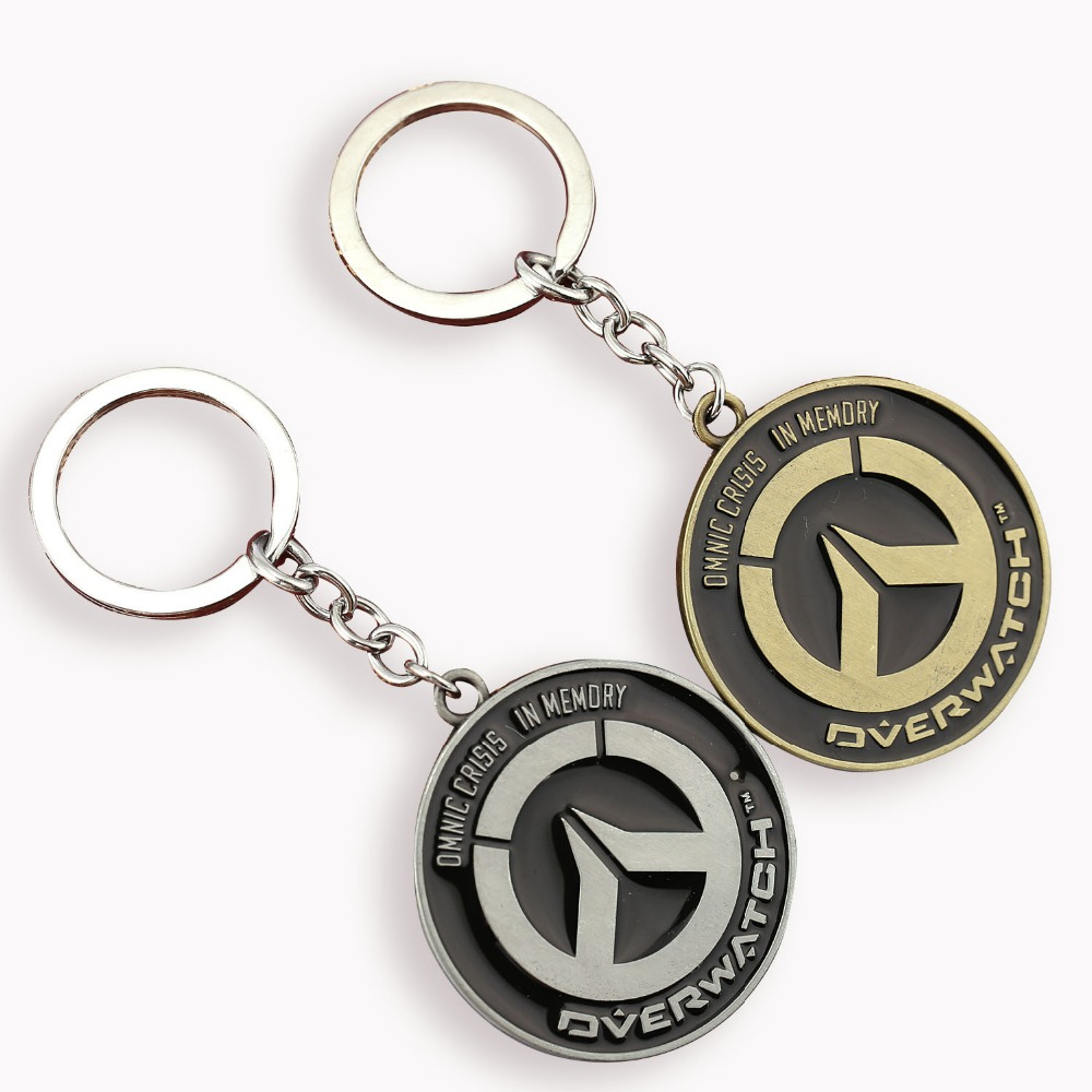 H&F Game Over watch Keychain Tracer Reaper OW key Chains Entertainment Logo Key Ring Holder Motorcycle Key ring Llavevos(China (Mainland))