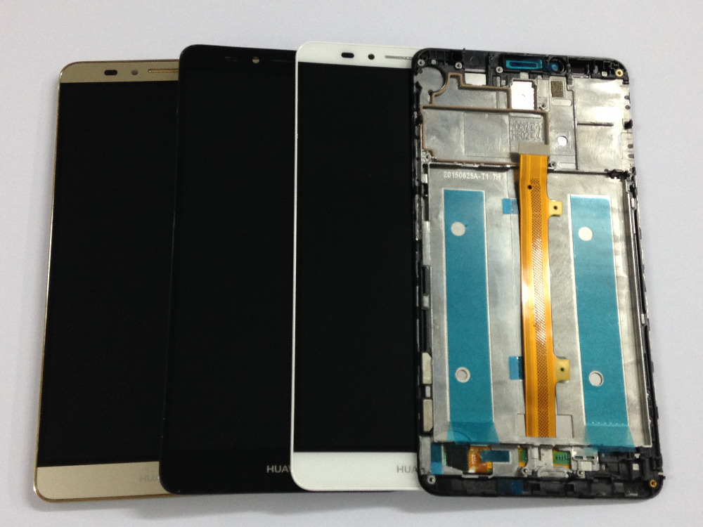 With Frame Black White Gold LCD Display + Touch Screen Digitizer Assembly Replacement For Huawei Ascend Mate 7 Free Shipping