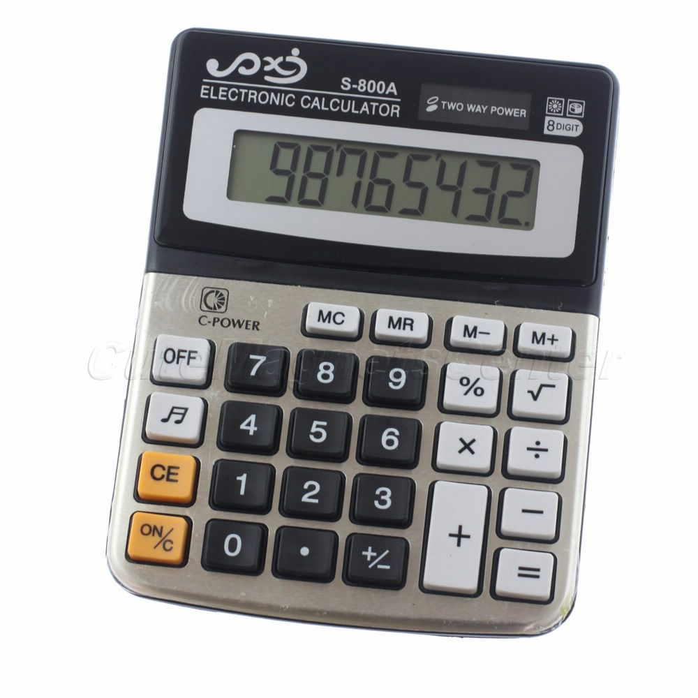 Best Selling Universal 8 Digital Pocket Size Electronic Calculator Calculating Tool With Big Button(China (Mainland))