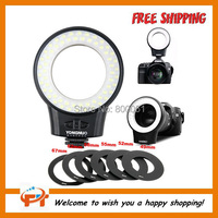 FREE SHIPPING YONGNUO Macro Photography Light WJ-60 Video Light LED Ring Lights WJ60  Makrofotografie Licht For Canon Nikon