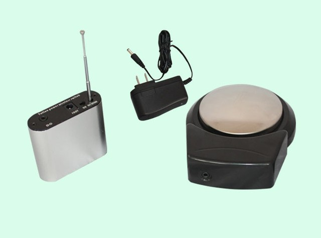 free shipping wholesales Professional  easy Wireless Tattoo Foot Pedal Charger plug+reciver Kit