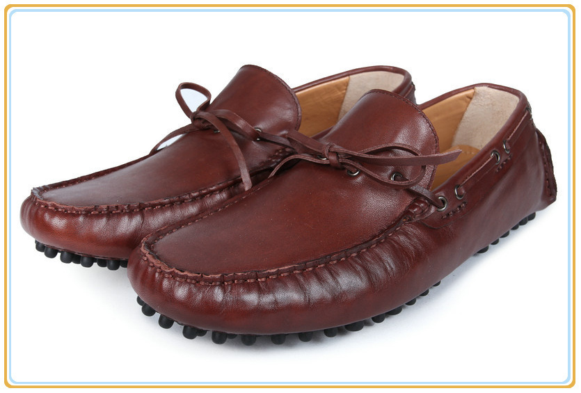 Top Quality Flats Men Loafers Casual Dress Shoes Moccasin Gommino Boat Shoes Size 39-45<br>