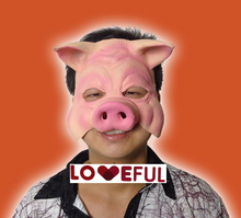 New Quality Cute Cosplay Funny Pig Face Latex Clown Mask For Halloween Costume Party(China (Mainland))