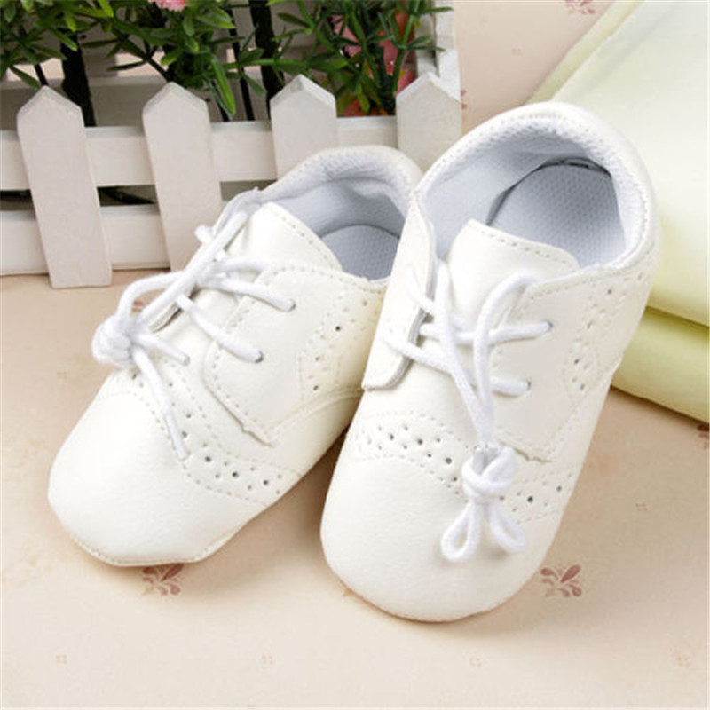 2015New 0-12M Baby PU Leather Lace Shoes Newborn Boys Girls Anti-Slip Casual Shoes<br><br>Aliexpress