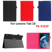 Buy Luxury Lichee Folio Book PU Leather Case Magnetic Folio Stand Cover Lenovo Tab 10 TB-X103F X103F 10.1'' Tablet PC for $10.29 in AliExpress store