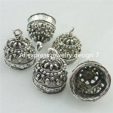 10PCS Tibetan Silver Bell Shape Beads Cap End For Tassels Charms