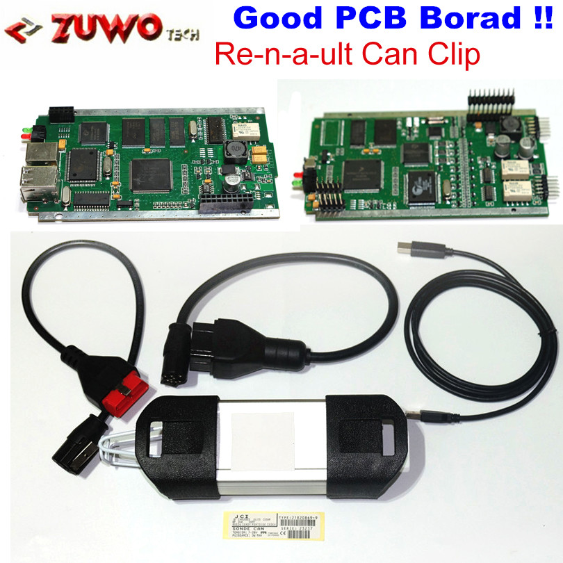 NEW !!! DHL free Good PCB Board V159 Renault Can Clip Professional Diagnostic Tool OBD2 Interface With Full Chip Multi-language(China (Mainland))