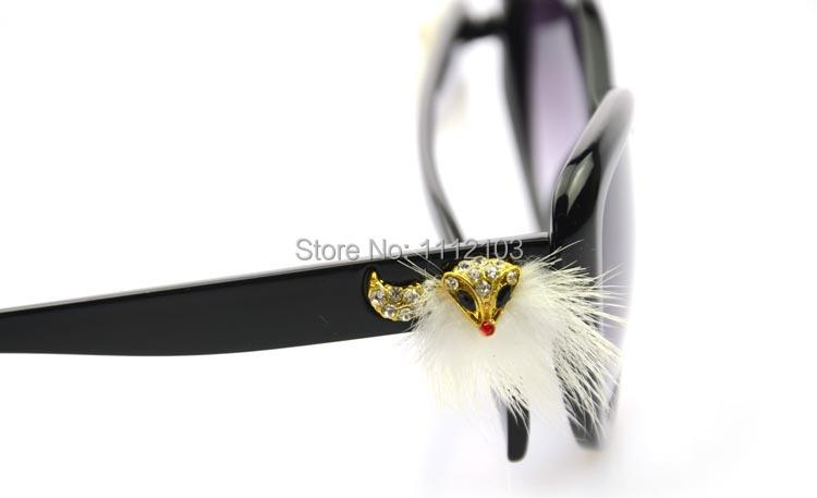 Dimond Fox Decoration Hair fashion eyewear brand designer women sun glasses oculos de sol - Mercy is Falling Store store