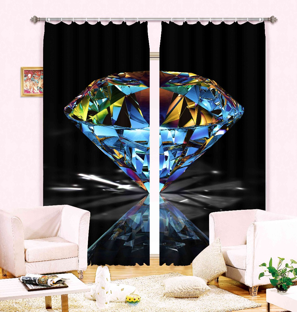 2016 china best selling 3d printing with shinning diamond design 100% polyester textile fabrics for blackout curtains(China (Mainland))